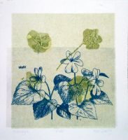 Floral Monotype 3 of 6 by designsbykari