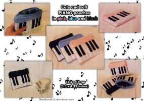 Cute Piano pouches by BlueDove415