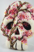 Cherry Blossom Sugar Skull - Available by AlwaysSuagarCoated