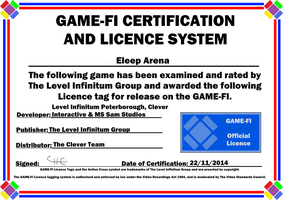 Eleep Arena Game-Fi Certificate by LevelInfinitum