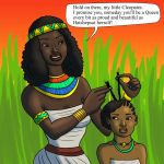 Little Cleopatra and Momma by DaBrandonSphere
