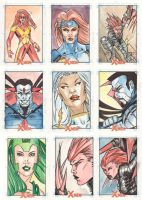Xmen Archives Sketchcards 8 by Csyeung