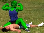 Wendy Lindquist She-hulk 6 by fatehound45