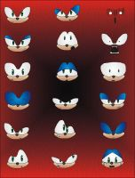 sonic facial expressions by Shadnix