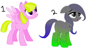 Picture Adoptables: Pony Auction 2 CLOSED by Literate-Adopts