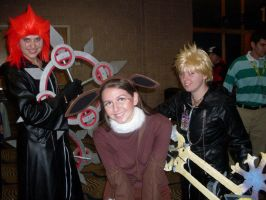 Axel, Roxas, and Eevee by MissDaniLips