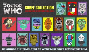 Doctor Who - Cubee Collection by mikedaws