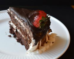 A wedge of chocolate cake by smallsmiles