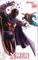Magneto Vs Superman by artstudio