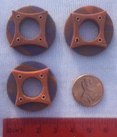 Blue-and-Orange Star Ring Buttons by CageyJay