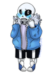 Undertale:: Blushy Skelly by Crazyfox346