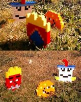 Aqua Teen Hunger Force Legos by Enlightenup23
