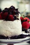 Chocolate and Strawberry Pavlova by Cerasiz