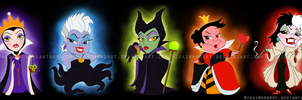 Pretty Lil' Villains by NikkiWardArt