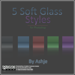Soft Glass Photoshop Styles by Ashje