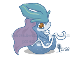 suicune pup by TreeTopFoxx