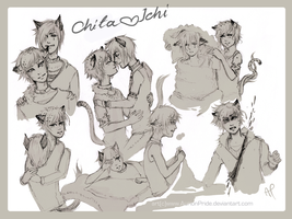 Gift: Chita and Ichi - sketches by AurionPride