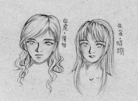 OC- Portraits of the WT and CP by anuhesut