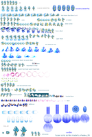 My Water Sonic sprites by Splendont-Flaky