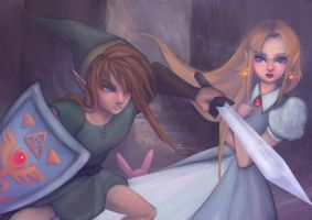 The Legend of Zelda - A Link to the Past by LittleGlacie