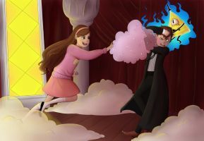 Gravity Falls: The Power Of Glitter Compels You! by RestlessEcho