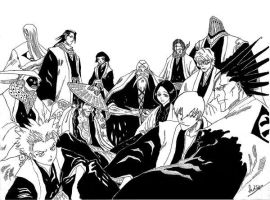 Bleach captains by shuteye1990 by Club-Bleach