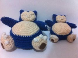 Snorlax dad and son xD by AmiAmaLilium