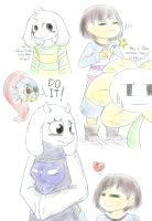 (Spoilers?) Undertale sketch dump by Thwill