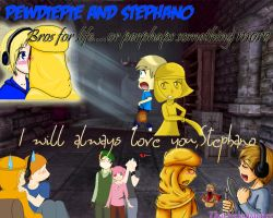 PewdiePie and Stephano: Bros for Life by ThatNekohacker