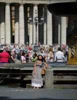 Barefoot at St. Peter's Square by BenKodjak