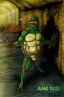Dark Ninja Turtle by spiritwar
