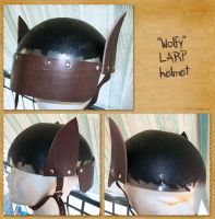 Wolfy LARP Helmet by Meow-chi