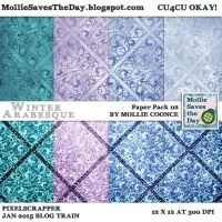 Winter Arabesque Paper Pack 2 by Mollie-Coonce