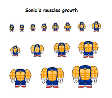 Sonic's muscles growth by Effra-Bulbizarre