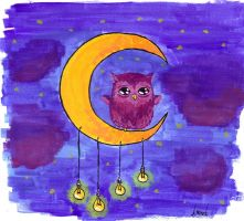 owl on the moon by Anathema7