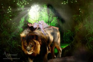 Anna and Lion by annemaria48