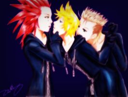 Axel Roxas and Demyx by ChocolateChaos