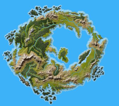 Crescent Continent of the Elf Nations by MichaelTumey