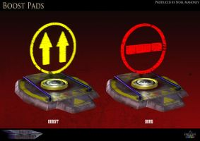Boost Pads for Sci-fi Racer by Tafari-Studios