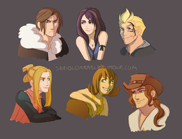 FF8 gang by skribleskrable
