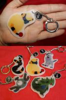 Plastic Pokemon Keychains by Nortiker