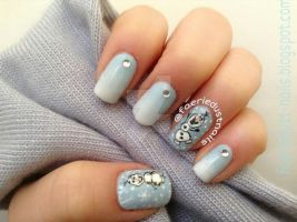 Olaf Inspired Nail Art by miss-manami