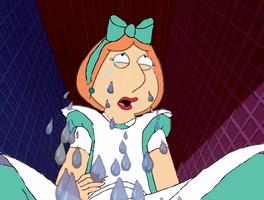 Lois Griffin as Alice crying by darthraner83
