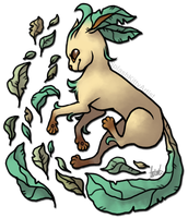 Leafeon by pSarahdactyls