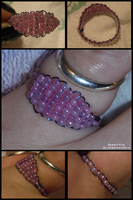 Beaded Ring by Amazinadrielle