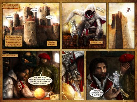 Assassin's Creed comic strip - figures.cz contest by mkozmon