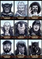 Iron Man 2 Sketchcards 28 to 3 by Guy-Bigbelly