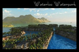 Waterloo Waterpark Print by dmaland