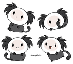 Chibi White-Headed Marmoset by Daieny