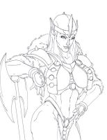 Barbarian Queen WIP by rhardo
